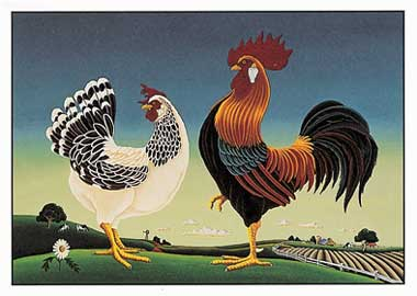 Hen and Rooster Cards